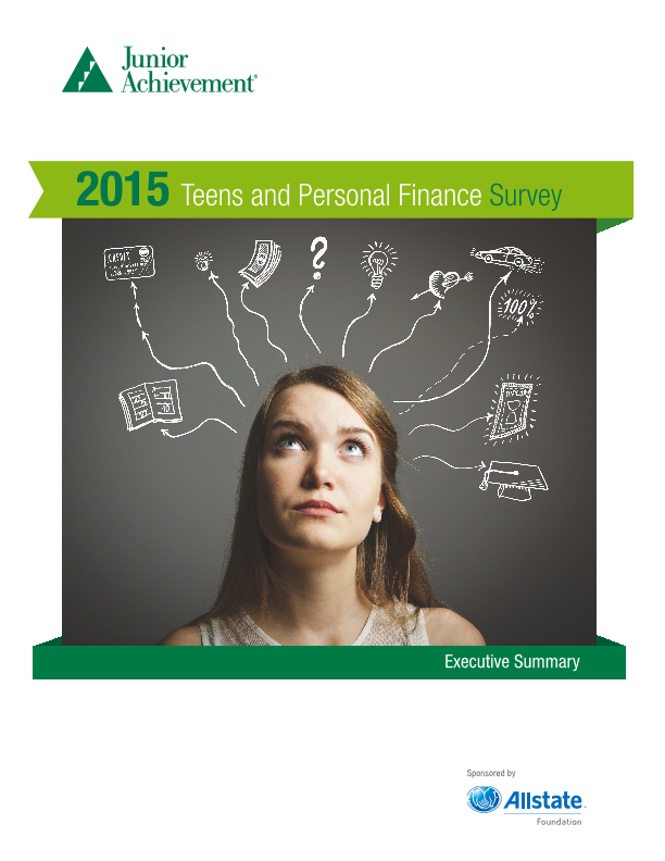 2015 Teens and Personal Finance Survey